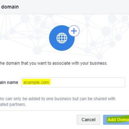 Facebook Domain Verification
