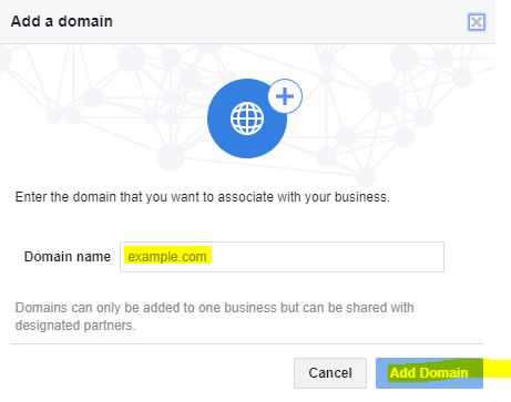 Facebook Domain Verification